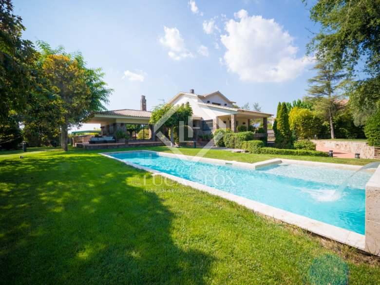 casa única en Sant Cugat en uno de los mejores pueblos con encanto para vivir cerca de Barcelona