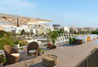 Promoción de Obra Nueva en Jardines de la Ciudadela en Valencia