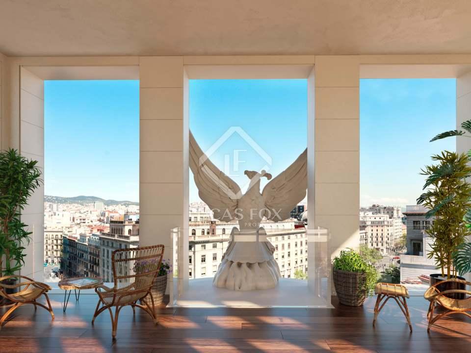 balcón ático Eixample - áticos de lujo