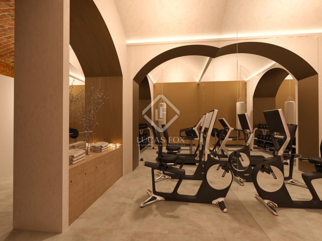 Las mejores viviendas con gimnasio en casa en barcelona lucas fox - Casa con gimnasio ...