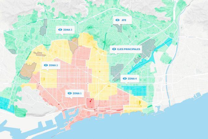 zonas de alquiler turístico en Barcelona
